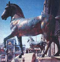 De paarden voor de gevel van de San Marco in Venetië zijn oorlogsbuit.