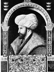Mehmet II, de veroveraar van Constantinopel.