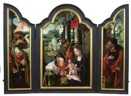 Aanbidding door de Drie Koningen, Pieter Coecke van Aelst, ca. 1520