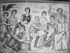 Hermes met het kind Dionysus, Nea Pafos, Cyprus, 4e eeuw.