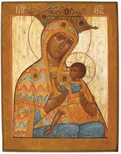 Moeder Gods Ovsepetaja, Rusland 18e eeuw, collectie Ikonenmuseum Kampen