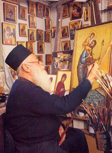 Monnik Kallinikos, befaamd ikonenschilder