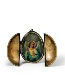 Karl Fabergé, Mikhail Perkhin, Appelbloesem-ei, 1901, goud, diamant, email, nefriet, lengte 14 cm, Liechtensteinisches Landesmuseum, Vaduz