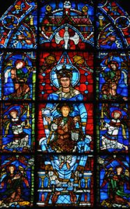 Stained glass window, Chartres Cathedral, Chartres, France