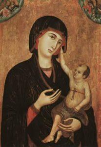 Duccio, Madonna di Crevole, circa 1283-84, Muso dell'Opera del Duomo, Siena,  Italy