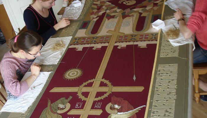 Voorhang voor een Moskouse kloosterkerk